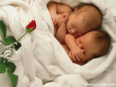 Geboorte e cards en baby kaarten - Twee meisjes en een jongen ...