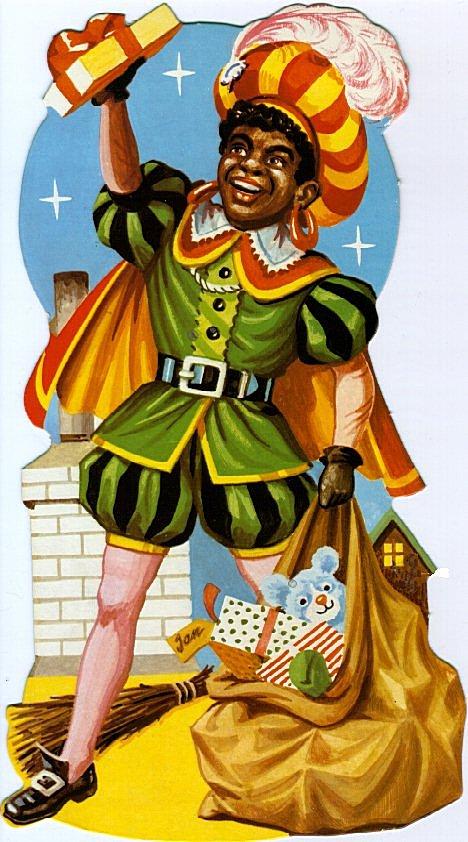 Zwarte Piet Met Een Zak Vol Cadeaus