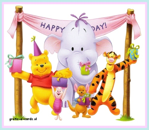 Gratis De Leukste E Cards Versturen Verjaardag Kind Winnie The