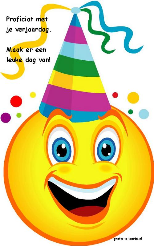 Zeer Gratis de leukste e-cards versturen - Verjaardag kind - Smiley met  @QS26